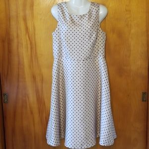 Black Label~Evan-Picone Dress, 12, Polka Dot, NWOT